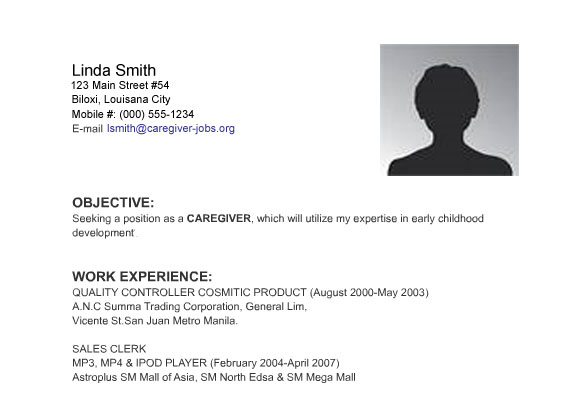 sample resume high school no work experience first job resume ...